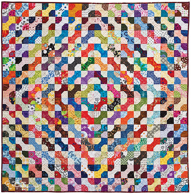 """Bow Ties, 56 1/2"""" x 56 1/2"""", designed and made by Alex Anderson, machine quilted by Dianne Schweikert. Photo courtesy of C&T Publishing."""