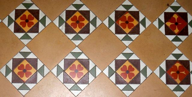 There's patchwork inspiration in the floors at the V&A as well.