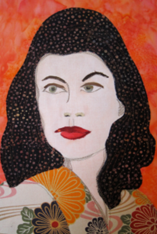 Project-J:  Portrait made from Darra's postcard method