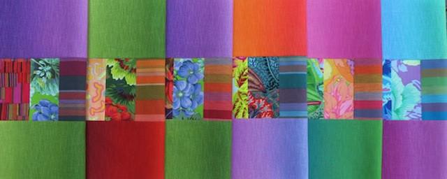0a array of folded blocks