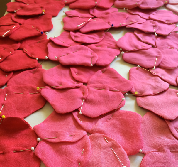 Project-J:  Using ombre fabric to make blossoms