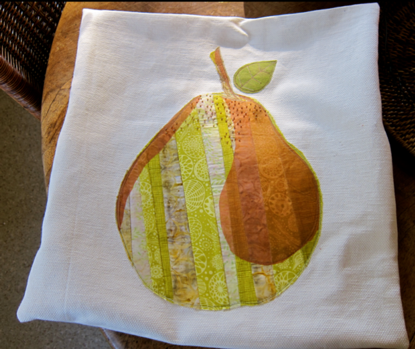 Project-J:  First completed pear pillow