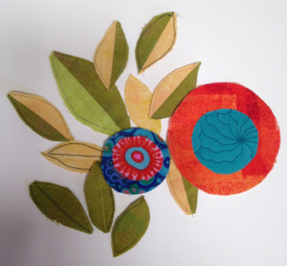 Leaf and circle samples
