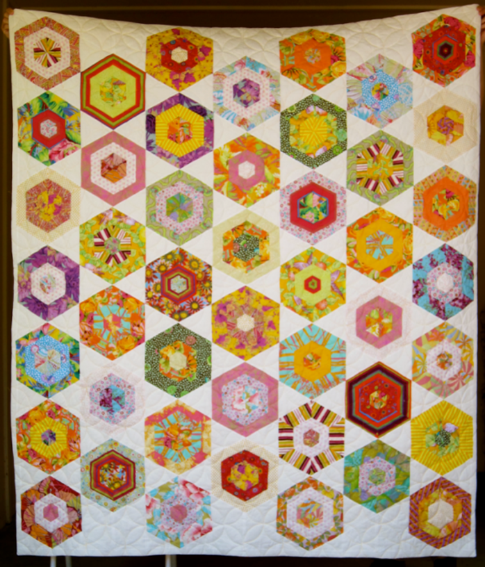 """Quilt-J:  """"My Fair Lady"""" from Kaffe Fasset's Quilt Road"""