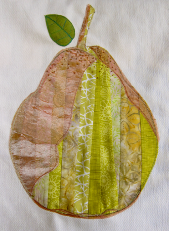 Project-J:  2nd completed pear for pear pillows