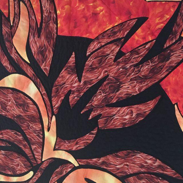 Fire by Margarita Wilcox, Machine Quilted by Shari Bahr