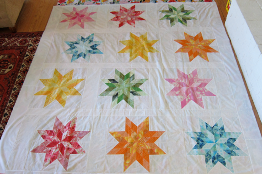 Almost ready for Marla's special quilting!