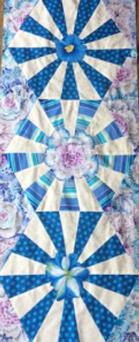 Blooming Wedge Table Runner by Laura Nownes