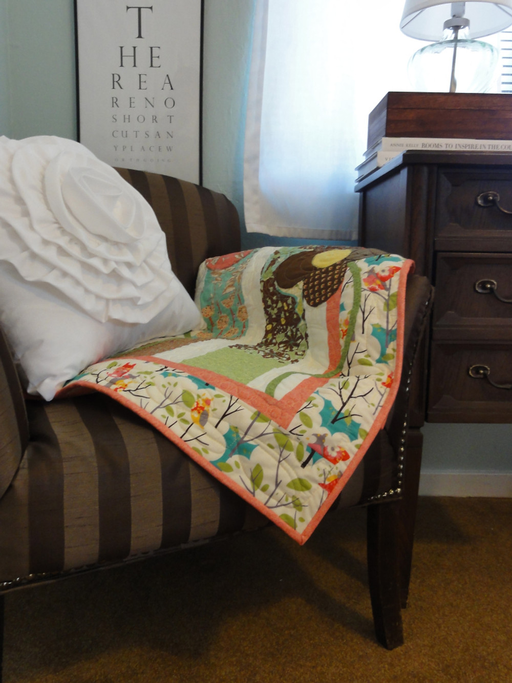 Baby quilt made from one charm pack.