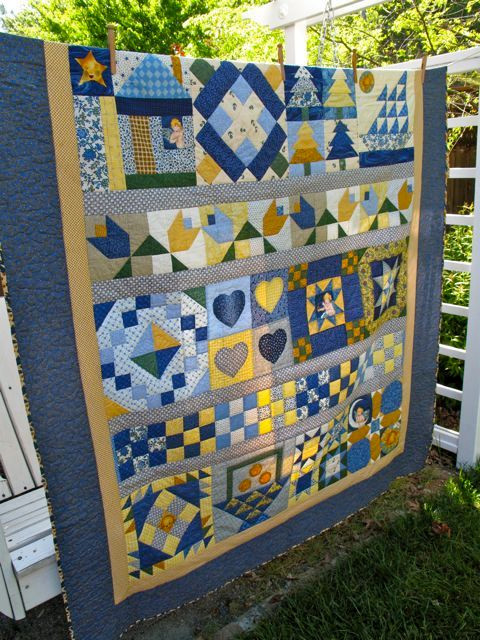 Verna's first quilt, made in 1996 in a class taught by our own Laura Nownes