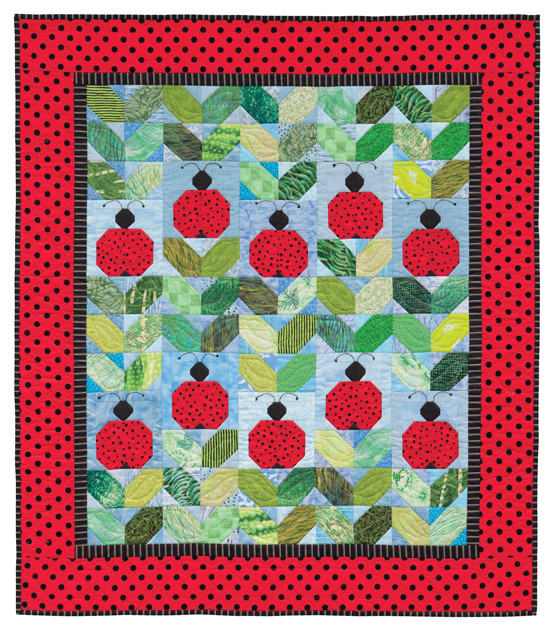 Ladybug! Ladybug!, designed and made by Darra Williamson, machine quilted by Chris Porter