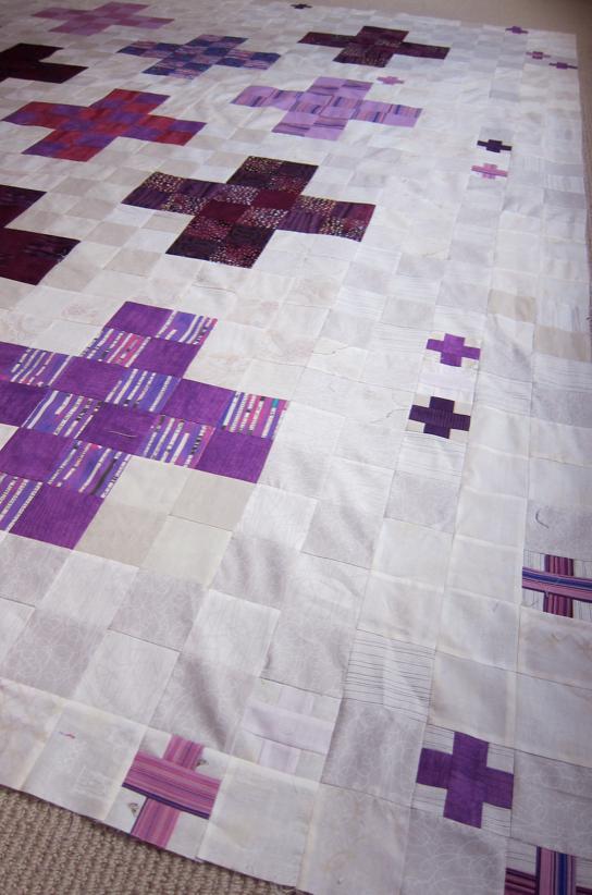 Quilt-J:  Purple Haze Detail