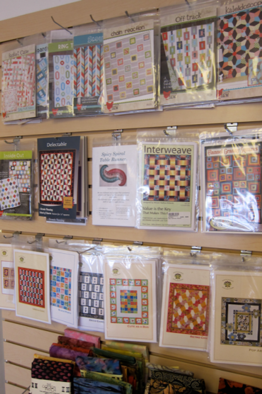 Patterns on display at Cotton Patch, Lafayette, California.