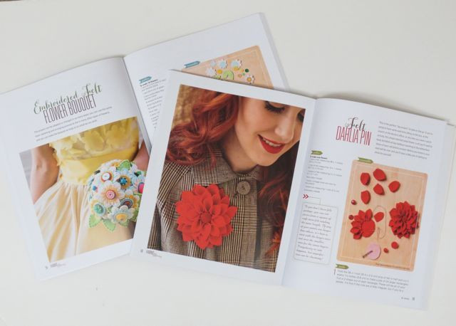A peek into the pages of Fabric Blooms