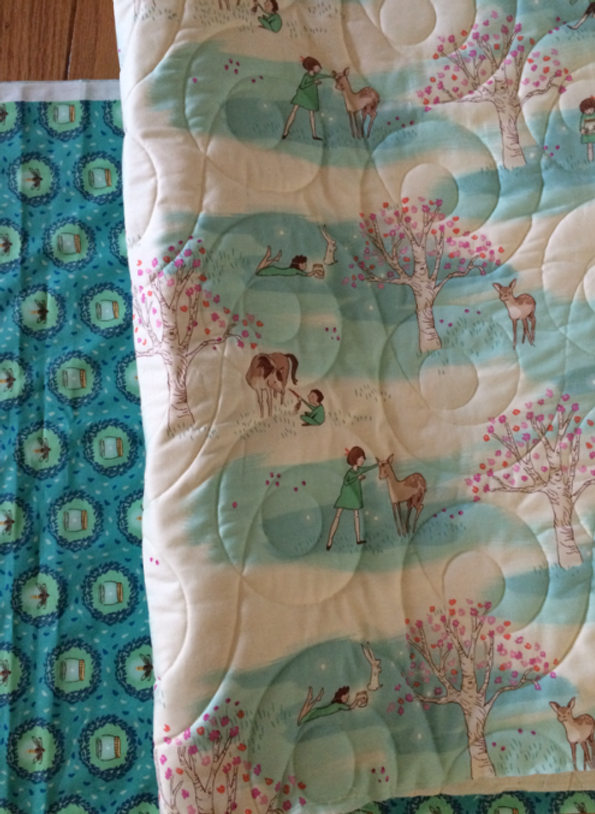 Theme and border fabrics for baby hexie quilt:  Wee Wander by Sarah Jane for Michael Miller Fabric. (click image to visit Sarah Jane)