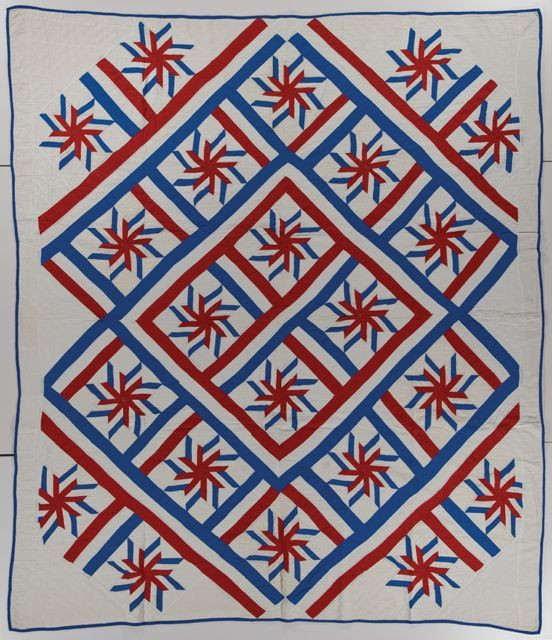 """Liberty Star; 81"""" x 96""""; c. 1920 - 1930; maker unknown; photo courtesy International Quilt Study Center and Museum"""
