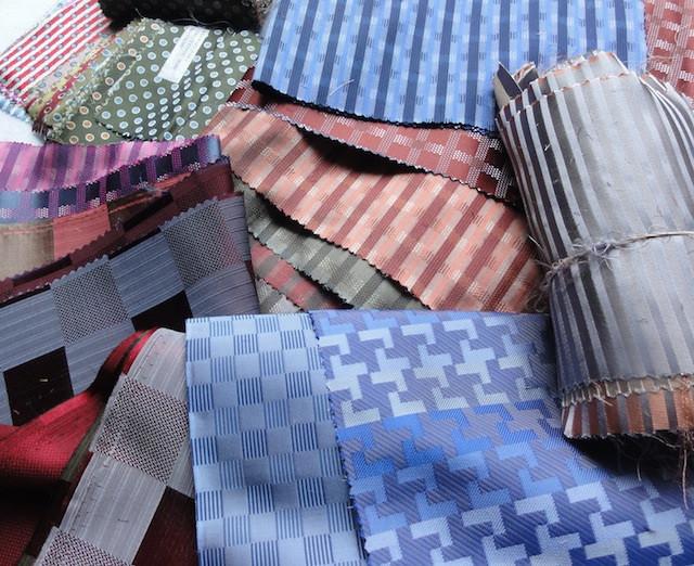 Silk fabric samples.