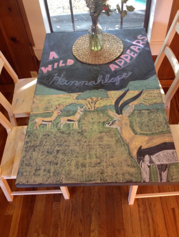 Inspiration-J:  My son's table art