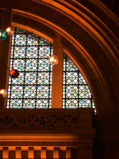 I can see the beginnings of a Modern Quilt in these stained glass windows at the V&A.