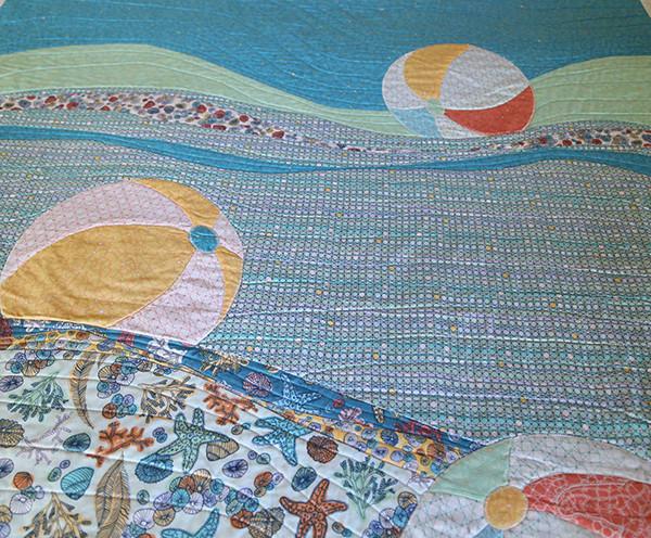 Beach Ball Quilt closeup
