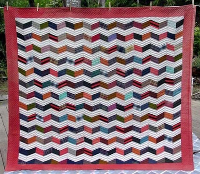 Zig Zag Circa 1900. Cotton Flannels.