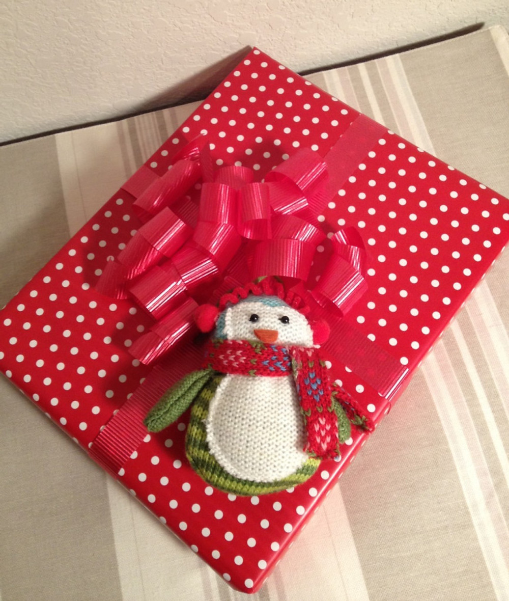 Polka dots are my favorite and this little snowman was too cute to pass up.