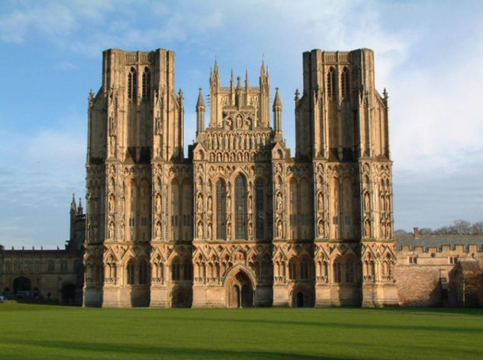 Wells Cathedral, west view