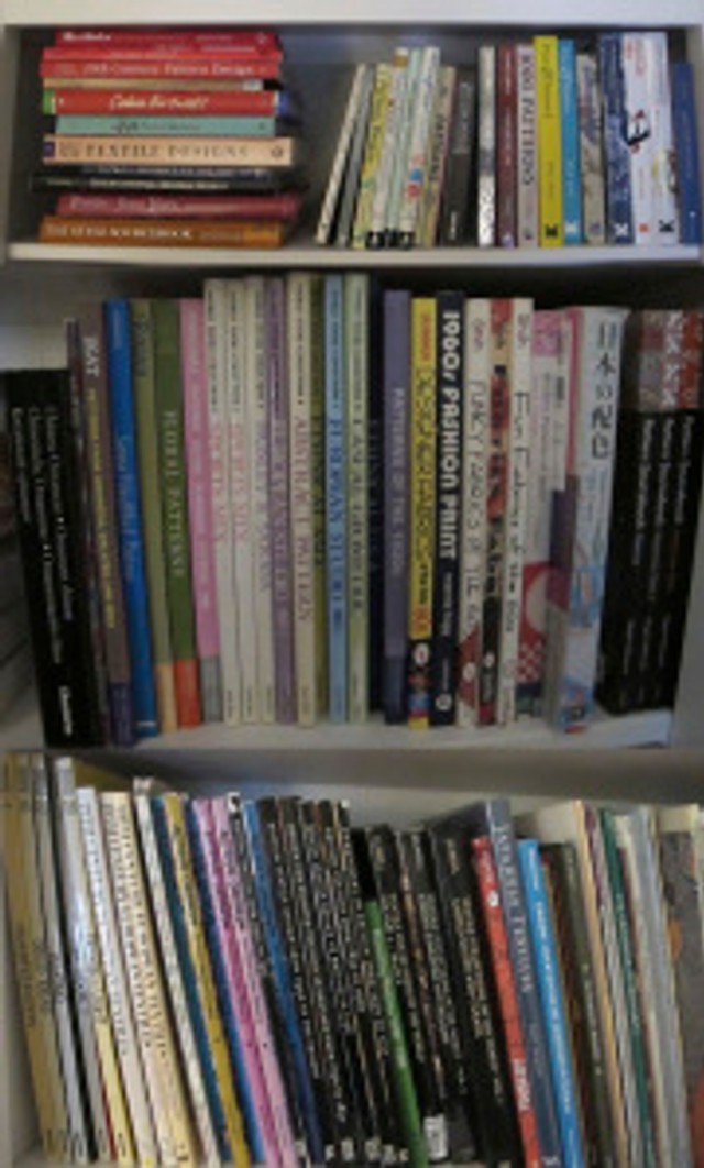 Some of Carol's many textile design books. Always a great source for inspiration.
