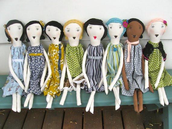 Jennifer Jarman Palomita rag dolls