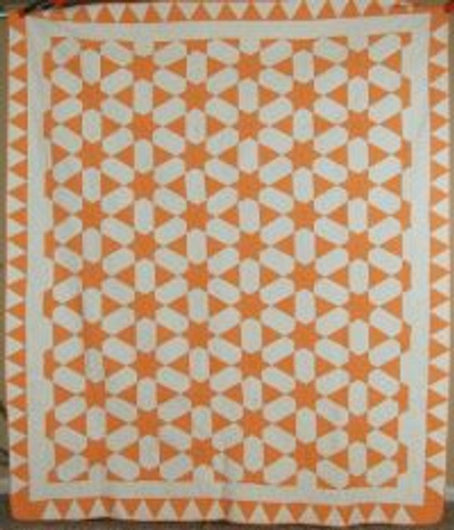 Vintage Cheddar and White Quilt