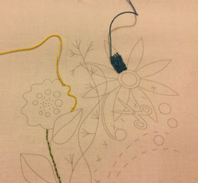 Pati's embroidery sample