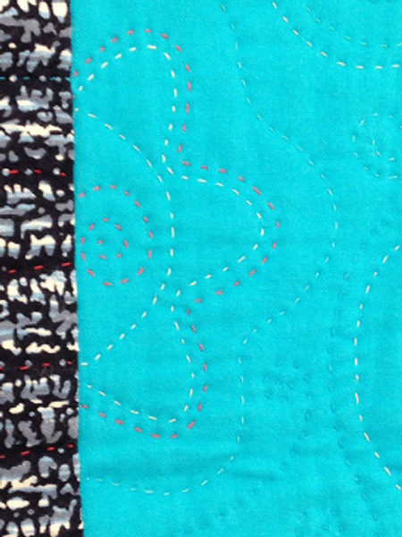 close up of quilt by Patricia Belyea