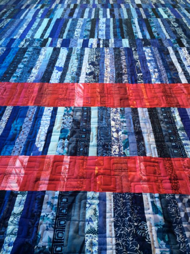 Quilt-J:  Wild Blue Yonder by Jennifer Rounds