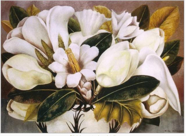 Magnolias by Frida Kahlo