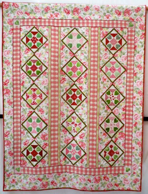 Hearts Aflutter by Marlene Chaffey, Exeter; a sweet interpretation of the traditional Shoofly pattern