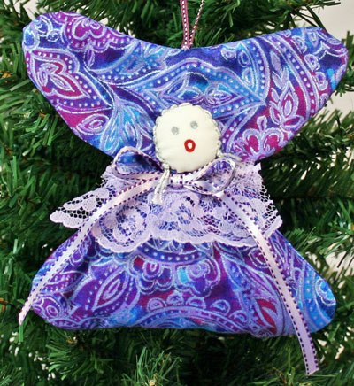Quilter's Angel Ornament from funEZcrafts