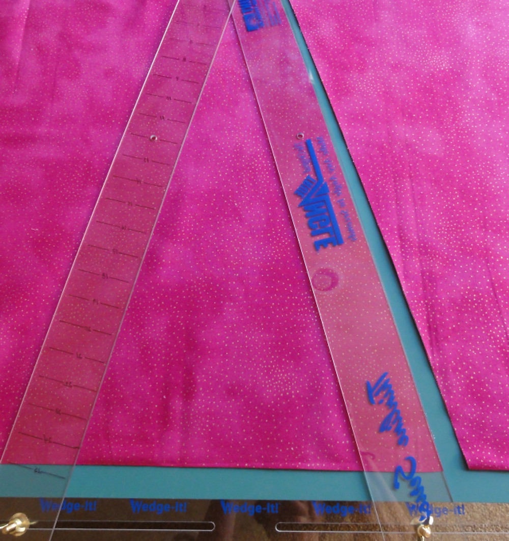 Accurately cut fabric pieces.