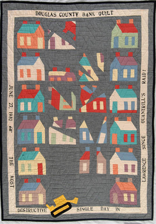 The Douglas County Bank Quilt, made by The Seamsters' Union Local #500, Lawrence, KS, 1987, collection of the International Quilt Study Center & Museum