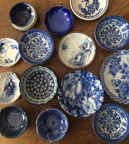 Blue and white bowls. Collection of Jennifer Rounds.