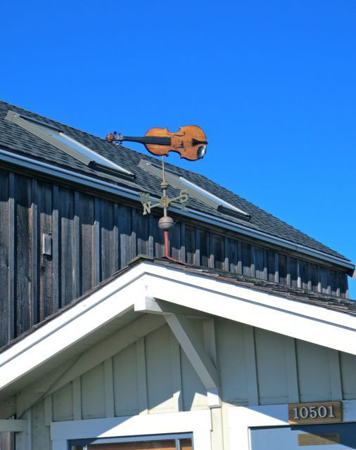 Not your typical weathervane!