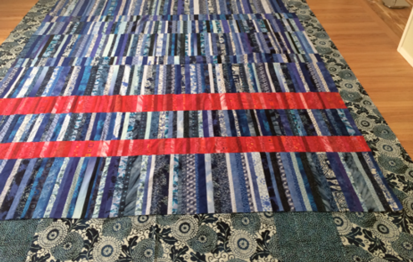 Quilt-J:  Auditioning quilt backing