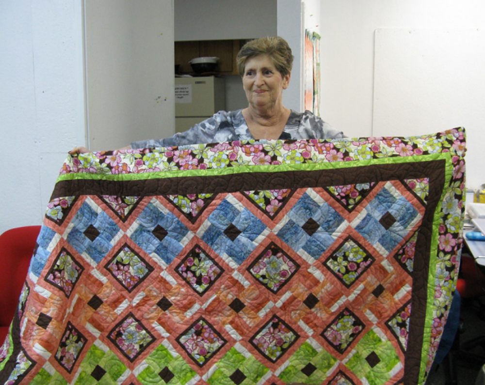 Made by Debbie Johnston. Spring Blooms pattern by From Me to You.