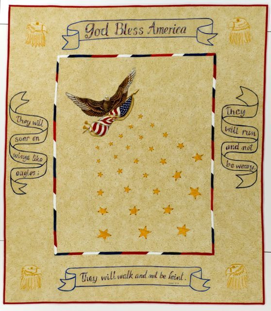 """Field of Stars; 50"""" x 57""""; made by Cathy Morris; International Quilt Study Center & Museum; general collection"""