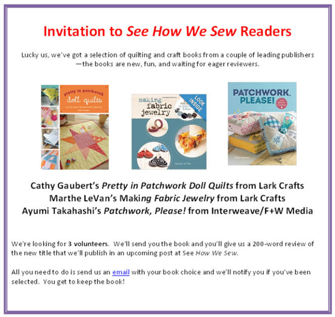 Book Review Announcement