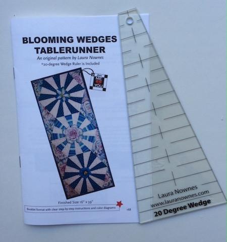Blooming Wedges Table Runner - pattern plus wedge ruler