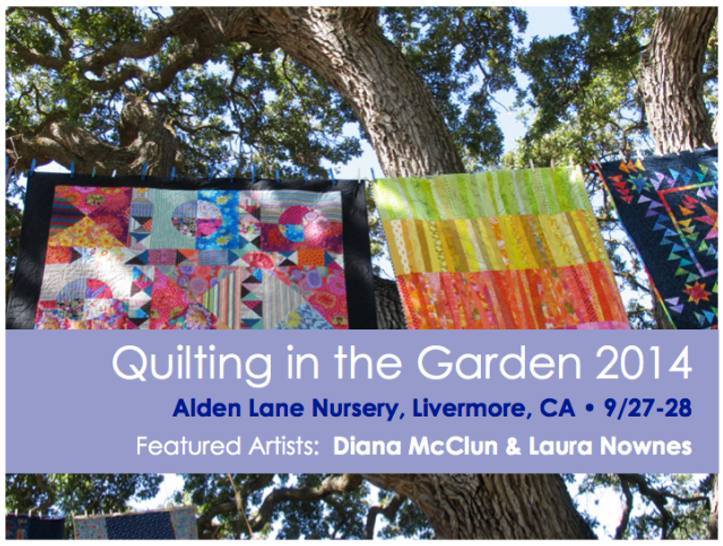 Dates & Places-J:  Quilting in the Garden 2014