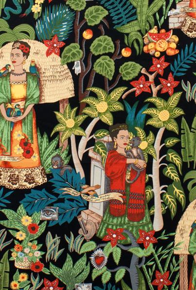 Frida Kahlo fabric by Alexander Henry.