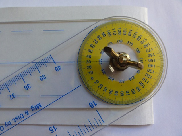 Dial the True Angle to the desired angle size.