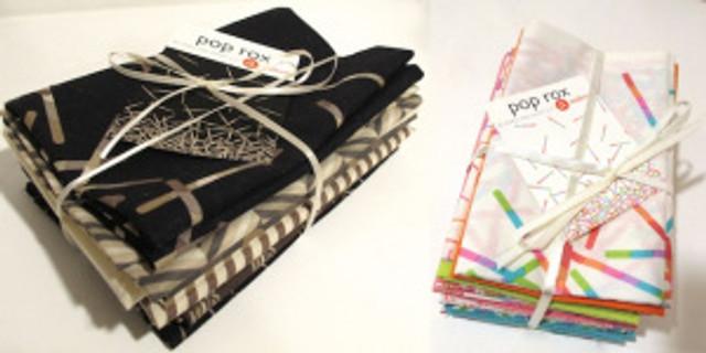 Pop Rox fat quarter packs by Carol van Zandt for Andover Fabrics.