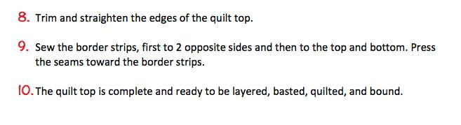 Project-J:  Quilt-Along Quilt Assembly Instructions